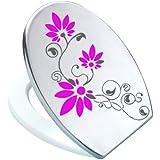 Grafix–Adhesivo decorativo para tapa de inodoro (Pressalit Antracita/rosa vinilo