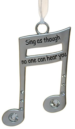 Gnz 7,6cm Musik Lover 's Leben ist Musik Zink Ornament-Sing Like No One Can Hear