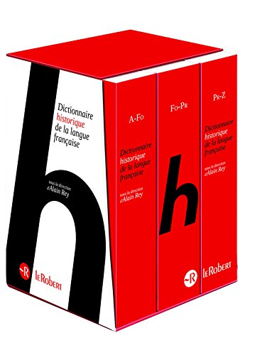 Le Dictionnaire Historique de la langue française