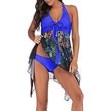 Luckycat Mujer Bikini Sexy Push up Trajes de Baño Mujer 2019 2pcs Bikinis Floral Halter Traje