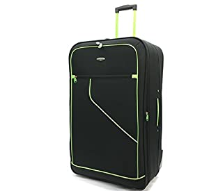 "Super Lightweight Expandable Durable Hold Luggage Suitcase Trolley Case Travel Bag 2 Wheels in Extra Large(31""),Large(28""),Medium(25""), Carry-on Approved 21"" & 18"""