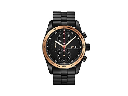 Porsche Design Chronotimer Series 1 Automatic Watch, 18Kt Rose gold, Black