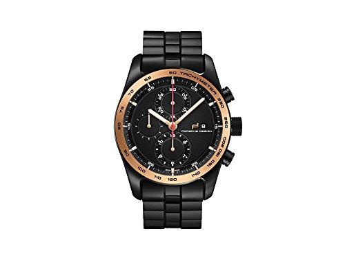 Reloj Automático Porsche Design Chronotimer Series 1, Oro rosa 18Kt, Negro