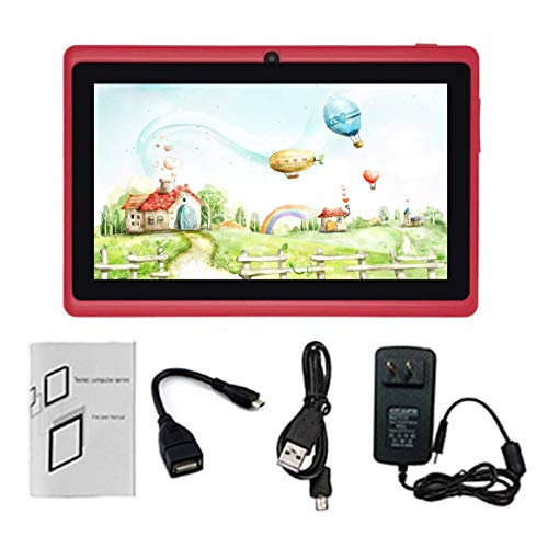Preisvergleich Produktbild 7-Zoll HD Touchscreen EU-Stecker Kinder Tablet PC Quad-Core 512 MB + 8 GB Studenten Lernen Tablet Geburtstagsgeschenk Tf-karte