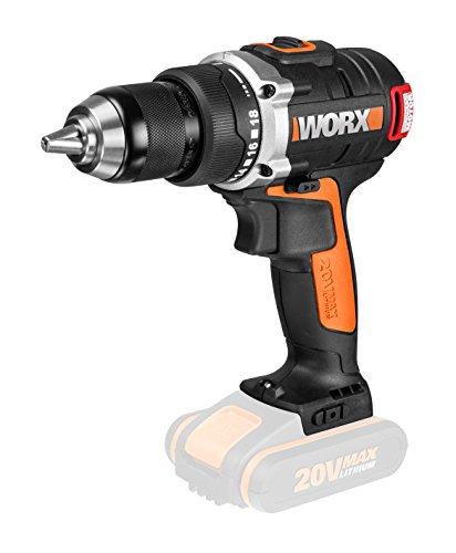 Worx wx175.920V batería-Taladro atornillador, motor sin escobillas, 13mm portabrocas, 2velocidades...