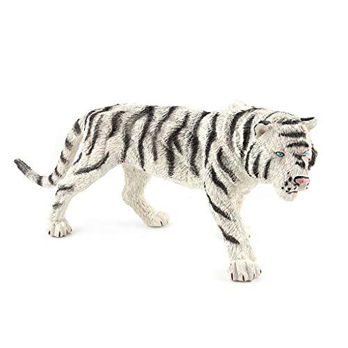 Llsdls Simulation Weiche Gummi Tier Modell Kinder Große Tiger Spielzeug Sammlung Ornamente Nordost Tiger Tigers Boy Spielzeug Geschenke (Farbe : Weiß)