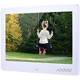 Andoer 12pulgadas Marco de Foto Digital LED Pantalla Ancha HD 1280 * 800 Calendario Reloj Reproductor de MP3 MP4 Películas con Control Remoto