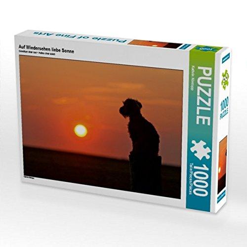 Auf Wiedersehen liebe Sonne 1000 Teile Puzzle quer (CALVENDO Tiere) Preisvergleich