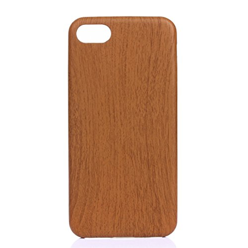 iPhone 7 Coque,Fodlon® Mode Bois Grain Doux TPU pour téléphone Housse -Red Profond