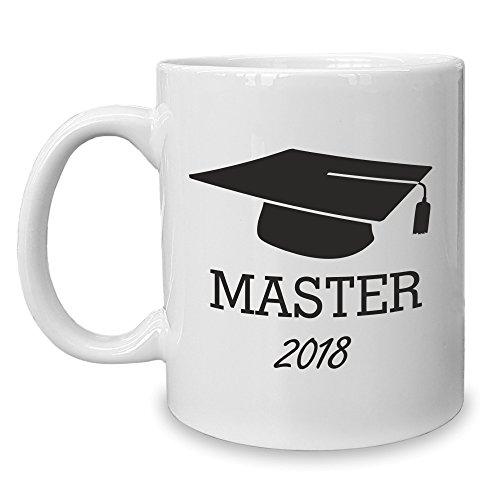 Shirt Department - Kaffeebecher - Tasse - Master 2018 Weiss-schwarz