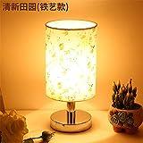 Piccola lampada da tavolo camera da letto dimmer lampada da tavolo lampada da comodino lampada da notte in ferro