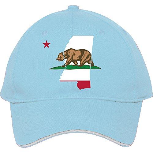 Mississippi California Funny Pride Flagge Apparel Baumwolle genesim Billig Snapback Kappen verstellbar hatmale/weiblich Classic Baseball Mützen, Blau
