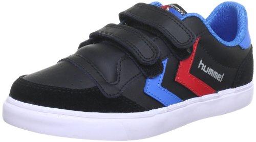 hummel Unisex Kinder Stadil JR Leather Low Sneaker (Suede Kinder-blue Shoes)