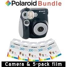 Polaroid PIC-300 Instant Camera in Black + 5 PACK OF PRINT PAPER