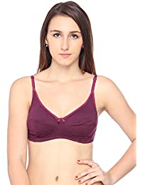 4916dbce8680f Lovable Cotton Non Padded Non Wired Full Coverage Purple Bra - CES-121-WINE