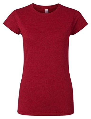 T-shirt à manches courtes Gildan pour femme Rouge cerise antique