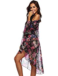 6d2fa787f2a HITSAN INCORPORATION Europe Style Women Swimsuit Cover Up Popular Beach  Dress Beach Cover Lady Three Quarter Sleeve Pareo…