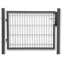 Zaun-Nagel Gartentür zum Doppelstabmattenzaun anthrazit - Höhe 100 cm/Breite 100 cm