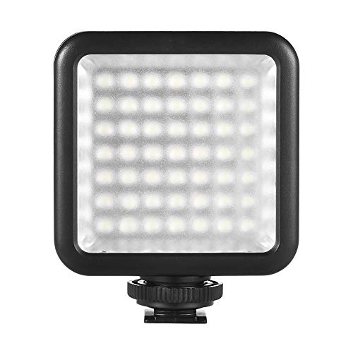 Andoer 49 Led Video Light, LED Mini Interlock Kameralicht, LED Panel Licht, Dimmbare Camcorder Video Beleuchtung mit Shoe Mount Adapter für Canon Nikon Sony A7 DSLR