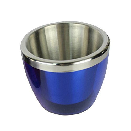 Sharplace Edelstahl Mini 800ml Eiskübel Weinkühler Champagnerkühler - Blau, 800ml