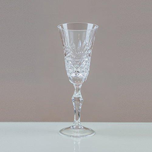 Victoria Fantail verres à Liqueur en cristal 24% ploMB fait main en 100% (Lot de 6) Cut Punch Bowl