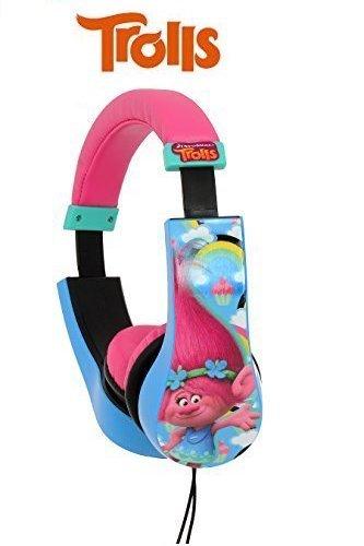 Kid safe 2 bambini cuffie volume limitato sulle cuffie dell'orecchio per i bambini (trolls)