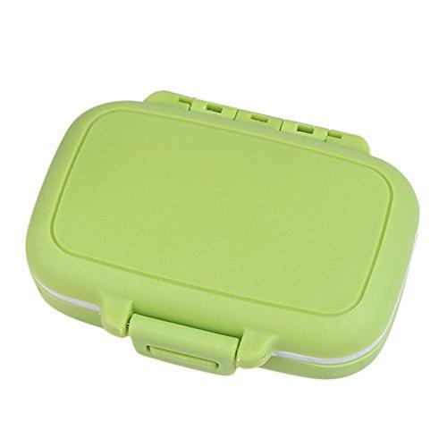 Kunststoff-pille (Hosaire 1x Kunststoff Aufbewahrungsbox Tragbar 3 Gitter Pille Kit Storagebox Aufbewahrungskiste Multifunktion Draussen Damen Schmuck Aufbewahrungsbehälter,Grün)