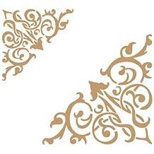 185,4/x 172,7/cm 114,3/x 88,9/cm Schablone Design Gr/ö/ße: 18,6/x 17,3/cm Gr/ö/ße: 11,5/x 9/cm Deco Grenzen 057/Punkte und Ecken