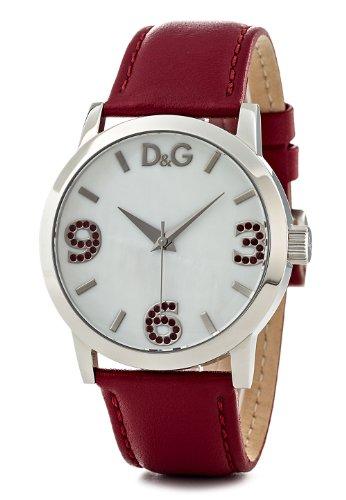 Dolce & Gabbana - Reloj de mujer, correa de acero inoxidable color rojo