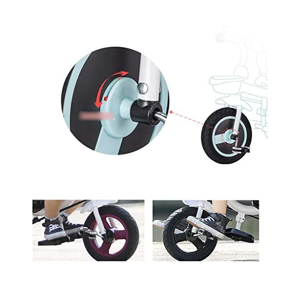 Qi Tai/ Baby trolley Children's Tricycle Bicycle 1-3 Years Old Baby Stroller 2-6 Baby Infant Child 3 Wheeler Large (color : G) Qi Tai The multi-function baby cradle can adjust the seat. Environmentally friendly and antibacterial fabrics are not easily torn or will not be allergic to baby's skin.  Seat: The seat is turned in two directions, easy to rotate, intimate every moment, facing the world to satisfy the baby's curiosity, and intimately interacting with the mother and the baby. 5