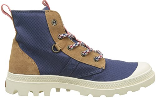 Palladium Unisex-Erwachsene Pallabrousse Retro Hohe Sneaker Mehrfarbig (Ensign Blue/brown Rose Gold/chil L03)