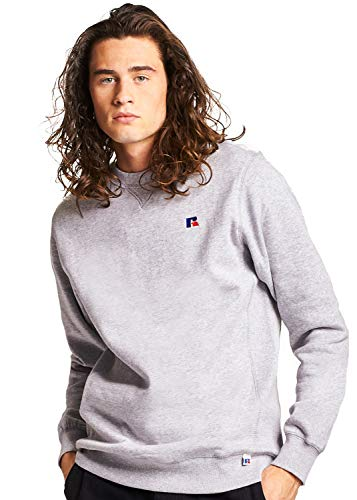 Russell Athletic Heritage Herren Frank Crew Sweatshirt, Oxford, XX-Large Athletic Crew Pullover