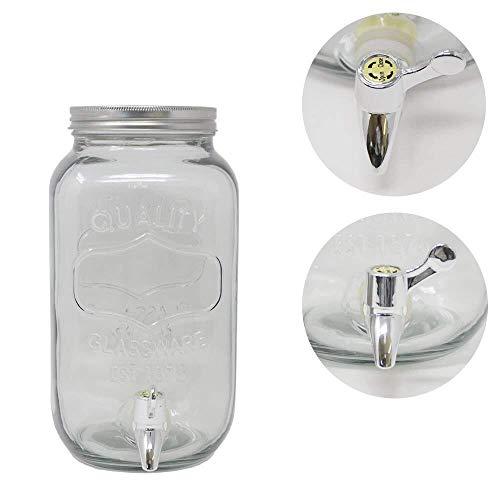 3,5 Liter Getränkespender GLANCE mit Hahn Saftspender Getränke Dispenser Spender (2 Stück)