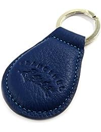 Francinel [L8699] - Porte-clés cuir 'Troubadour' bleu noir