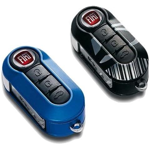 Fiat 500Carcasa de llave con diseño de código de barras, azul y negro, 2 unidades - 71805963