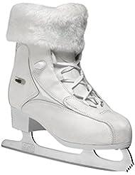 Roces Patins à glace Fur pour femme Blanc