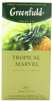 Greenfield Thé Vert, Tropical Marvel, 25 sachets de thé dans une boîte