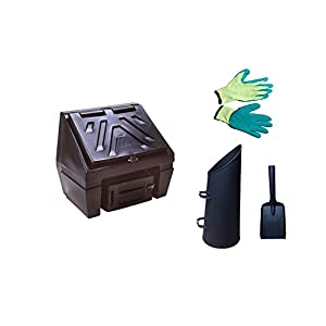Titan Coal Bunker 3 Bag 150kg, With Options of added Scuttle, Gloves and Shovel Black With Scuttle, Gloves and Coal Shovel