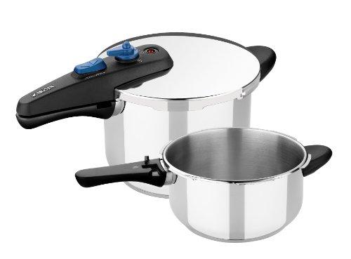 Monix VELOCE - Set duo de ollas a presión rápidas de 4 y 6 litros