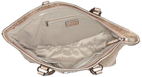 Tamaris Damen Neve Shopping Bag Schultertasche, 14x29x33 cm Beige (taupe snake)