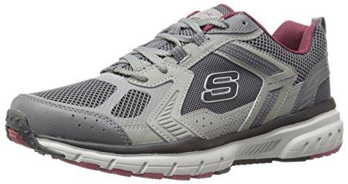 Skechers Geo-Trek Synthétique Chaussure de Randonnée Grey/Bordo
