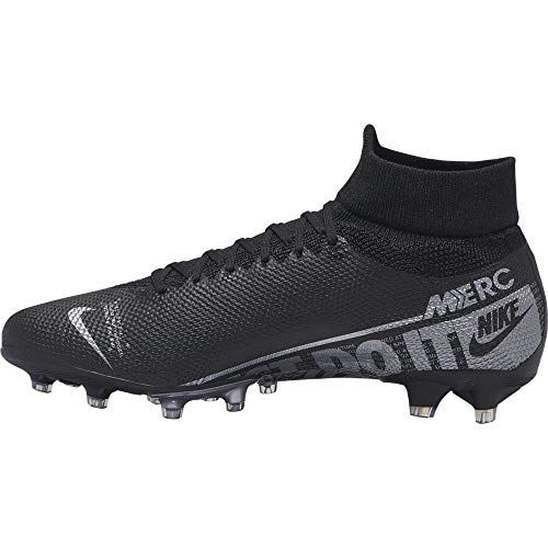 Nike Unisex-Erwachsene Superfly 7 AG-PRO Fußballschuhe, Mehrfarbig (Black/MTLC Cool Grey-Cool Grey 001), 44 EU
