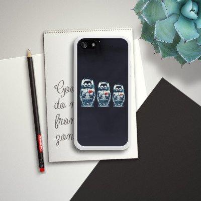 Apple iPhone 6 Housse Étui Silicone Coque Protection Os Crâne Tête de mort Housse en silicone blanc