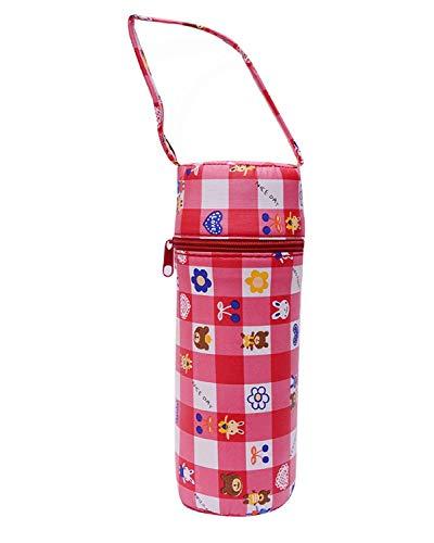 Manan Shopee Portable Infant Feeding Milk Food Bottle Thermal Warmer Bag Storage Holder (Upto 240ml) for Slim Shape Bottle (Red)