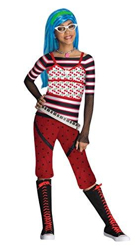 Kostüm Ghoulia Yelps Monster High für Mädchen - schlaaaauurrrig! 122/134 (7-9 Jahre) (Monster High Ghoulia Brille)