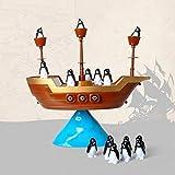 Heaviesk Kreative Pinguin Piratenboot Schiff Balance Brettspiel Balance Interaktives Tischspiel Lernen Lernspielzeug Kinder Schreibtisch Spielzeug