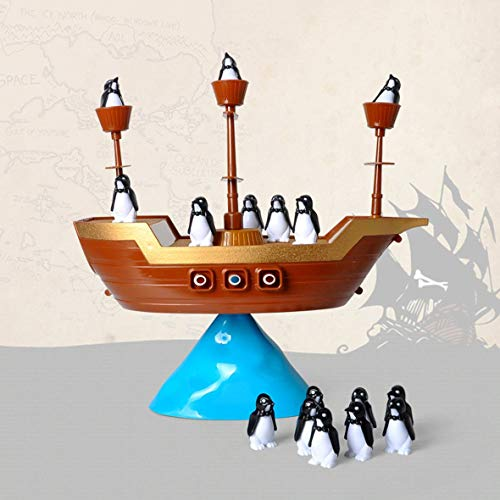 Heaviesk Kreative Pinguin Piratenboot Schiff Balance Brettspiel Balance Interaktives Tischspiel Lernen Lernspielzeug Kinder Schreibtisch Spielzeug