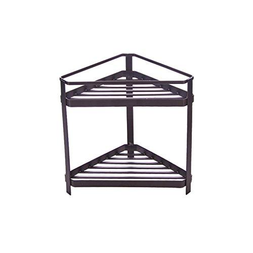Einfache Linien 2-Tier-Lagerregale Kaffee Farbe oder braun Badezimmer Toilettenartikel Collation Frame Küche Gewürzregal Dreieck Carbon Steel Lagerregal