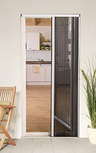 Willys-fachmarkt - tenda plissettata per porta, 125 x 220 cm, colore: bianco