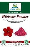 100% Pure & Natural Organic DEHYDRATED Hibiscus Powder (Hibiscus sabdariffa) Shoe Flower Curbs Natural Hair Loss Treatment Shine Growth Scalp Nourishment Stops Premature Greying - ISO/GMP/Halal CERT